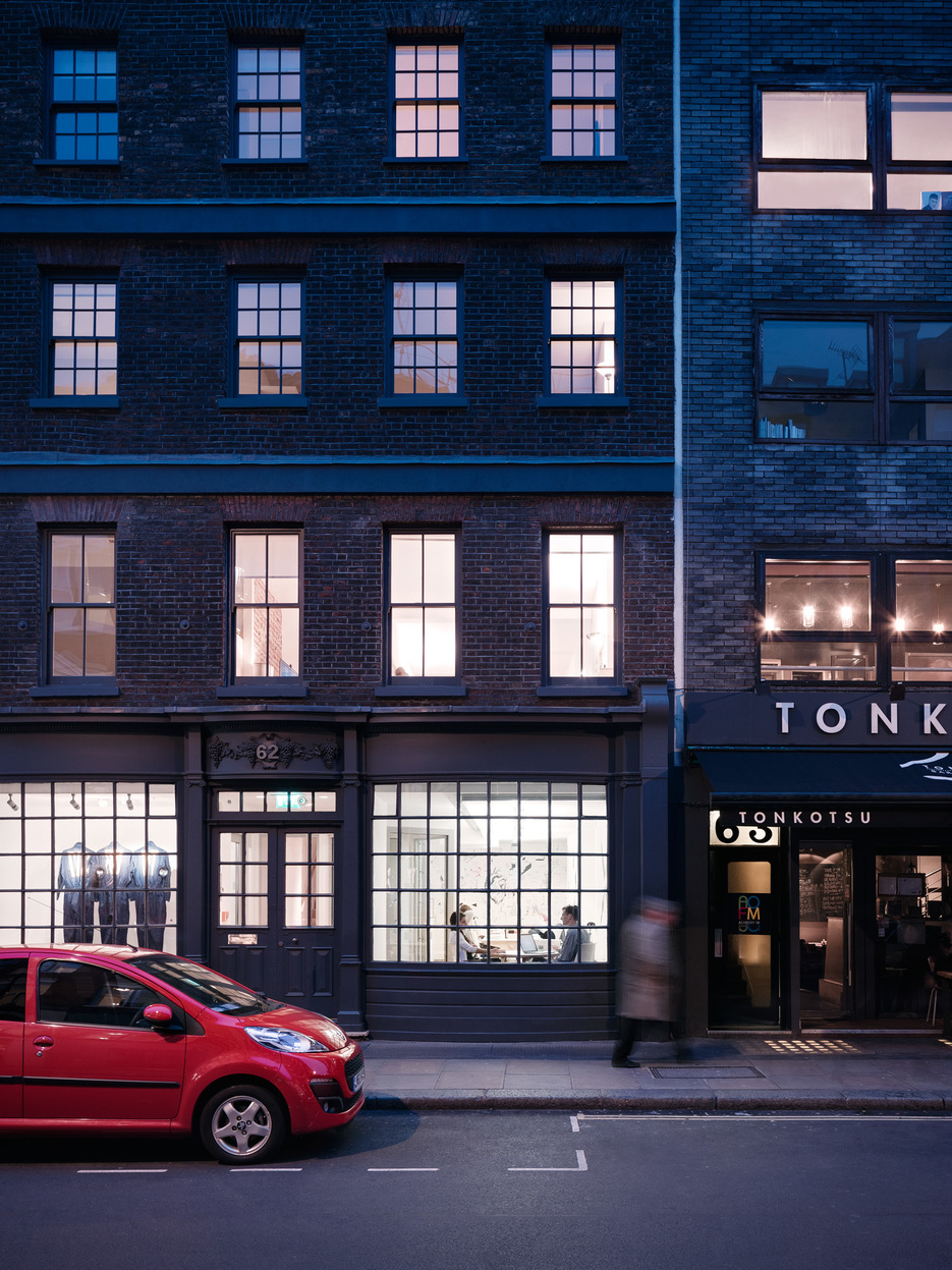 Workspace, The Garage Soho, London, Building Front