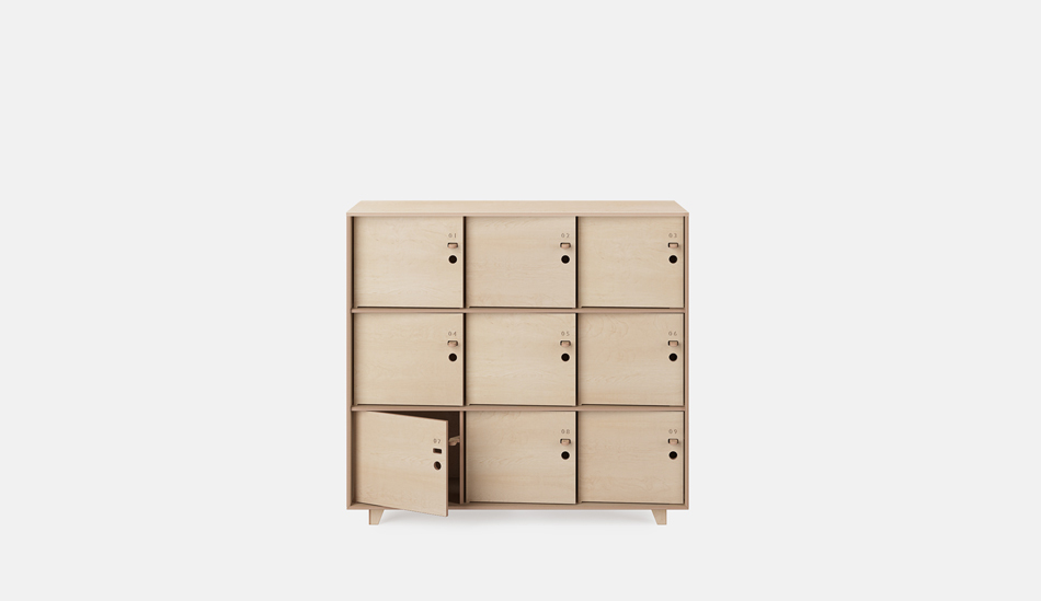 Opendesk fin lockers for Designer lockers