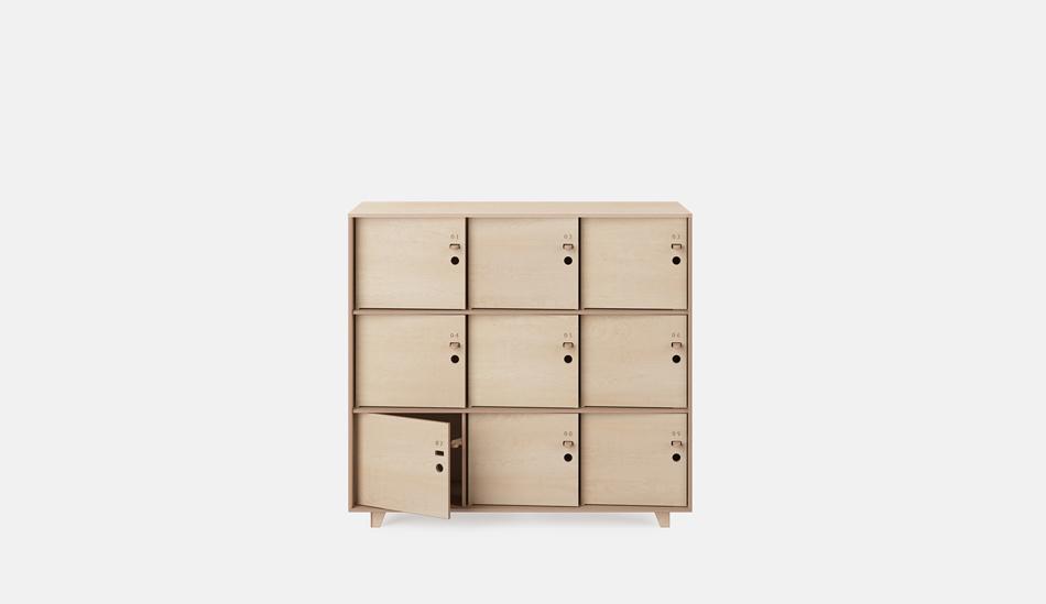Opendesk fin lockers for Designer lockers