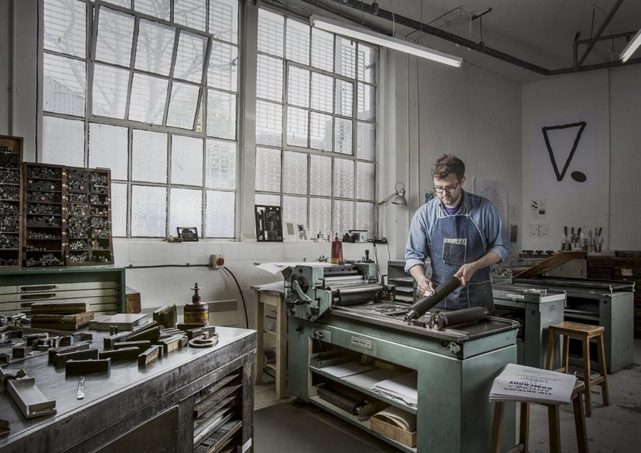 Inside East London Printmakers workshop in Hackney