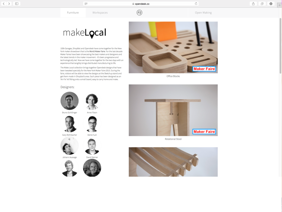 Screenshot of the Make Local range during the New York Maker Faire