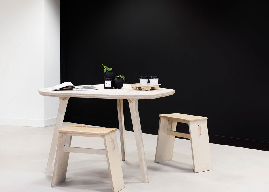 Cafe Table and Johann Stools.