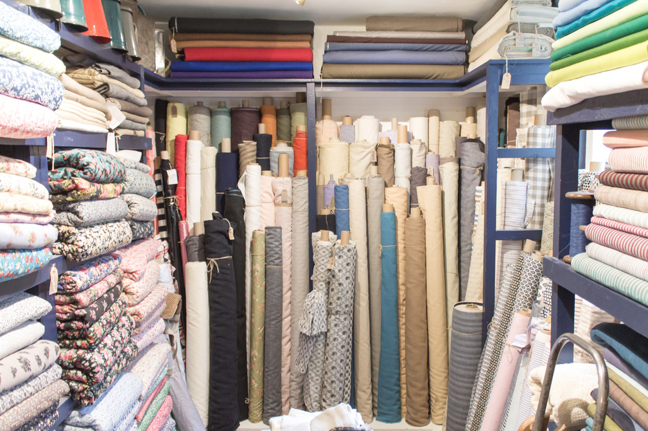 The Cloth Shop fabric room