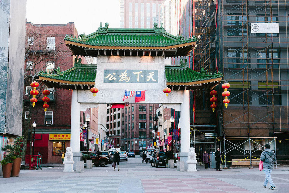 Chinatown downtown Boston