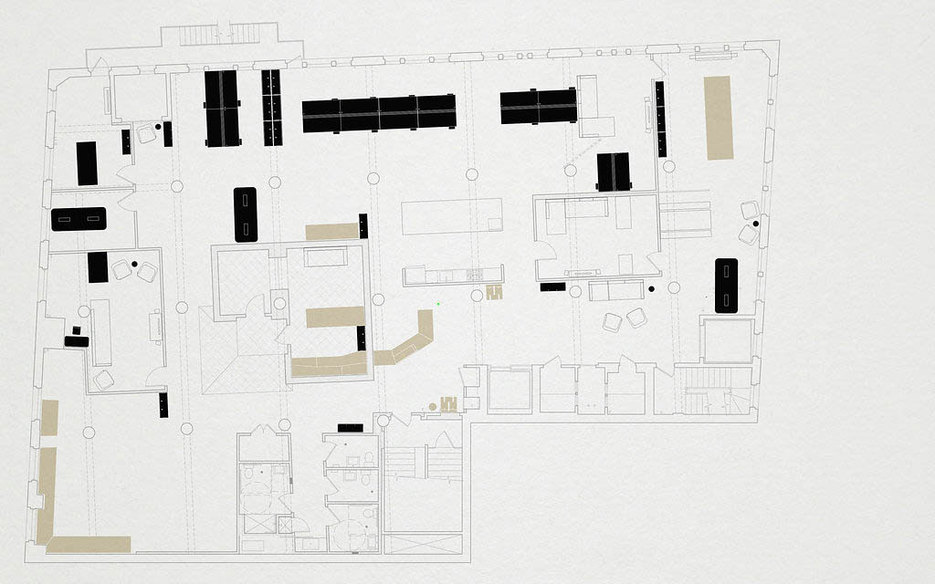 Floor plan of Black Math's office