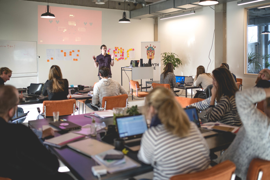 The classroom at Growth Tribe