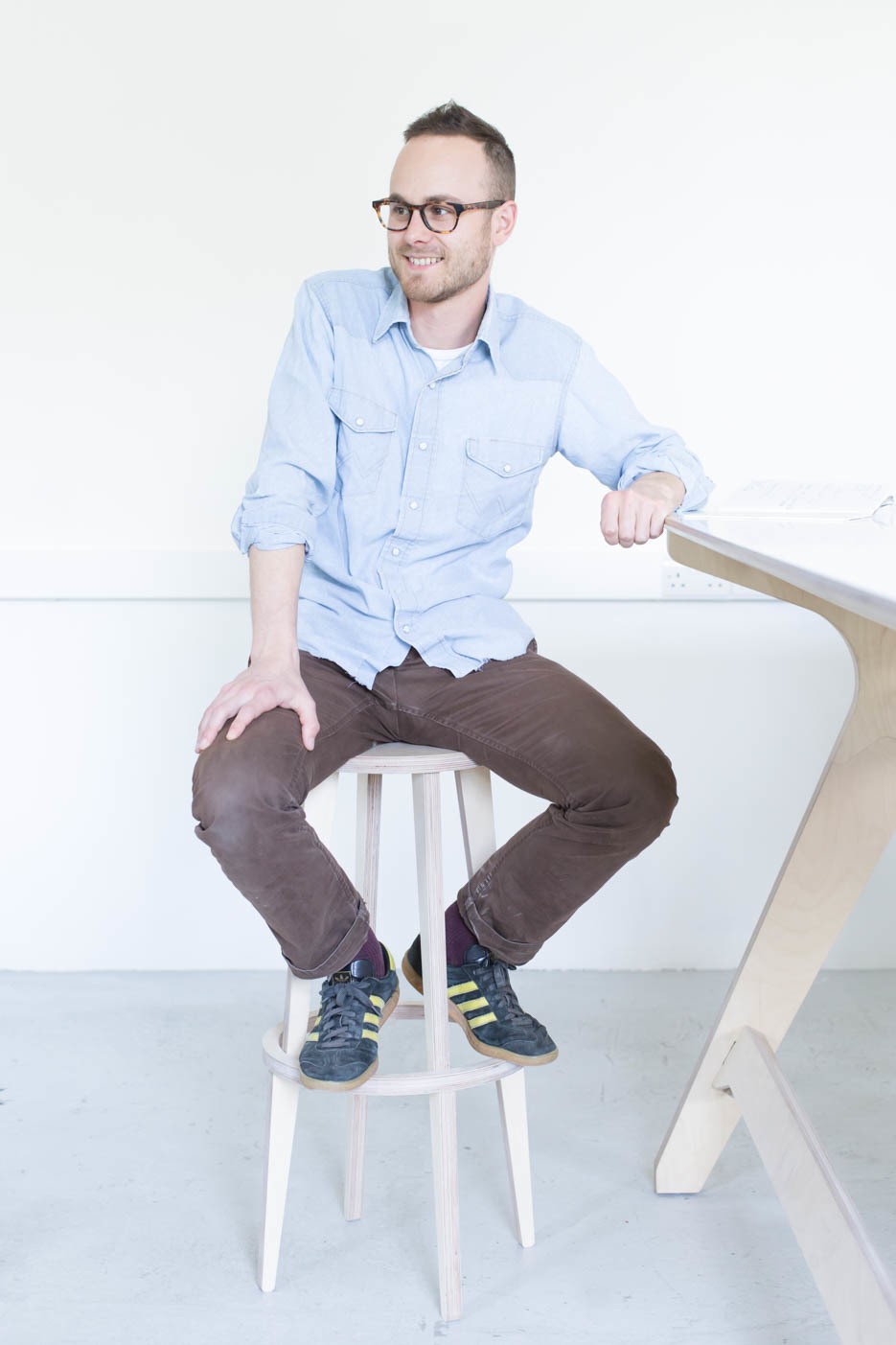 Ben designer of Nimble Stool