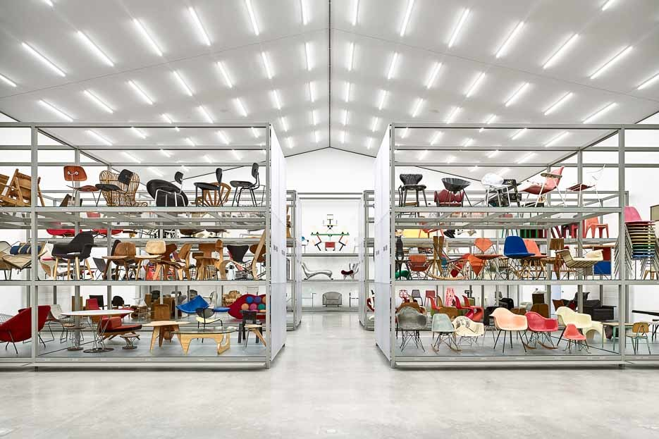 Vitra Schaudepot collection on display