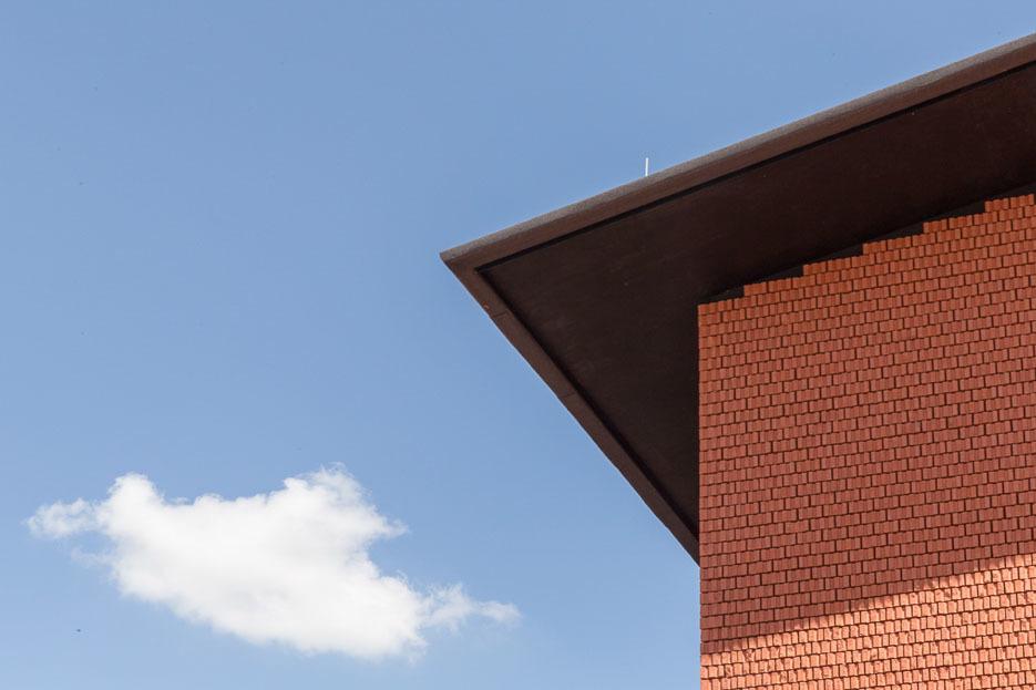 Vitra Schaudepot building brickwork detail