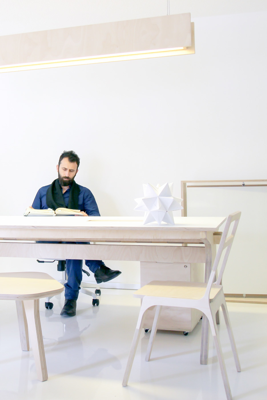 Mill Architects meeting room with Team Desk and Slim Chair