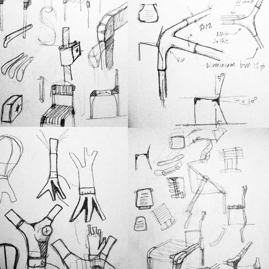 Sketches of Jose's Slim Chair