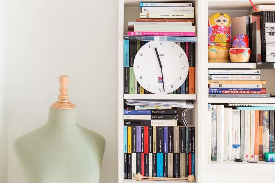 Jose Pacheco's bookcase