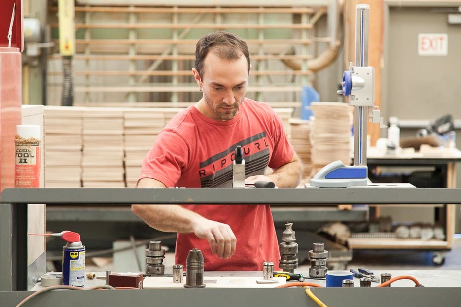 Rob in his workshop