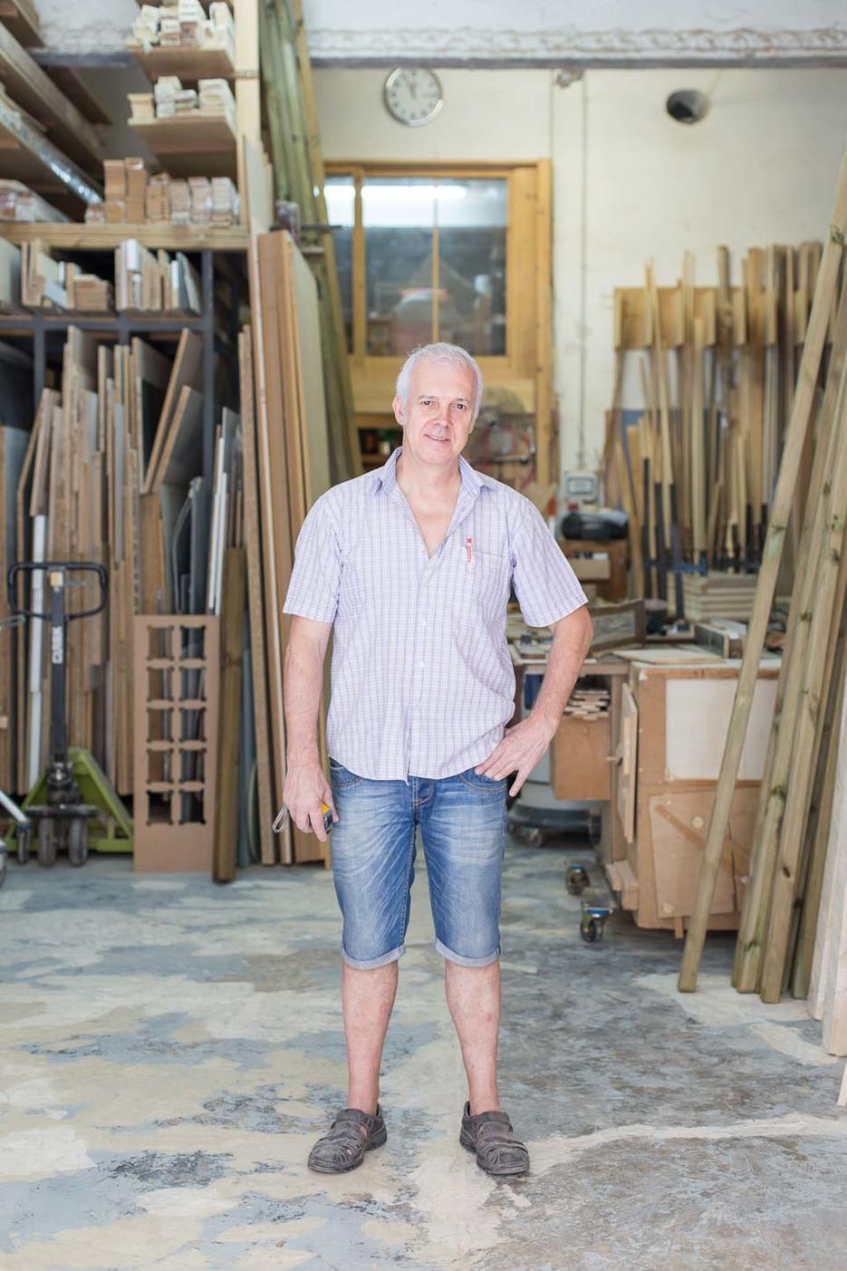 Sergi inside his workshop - Fustot Bel SL