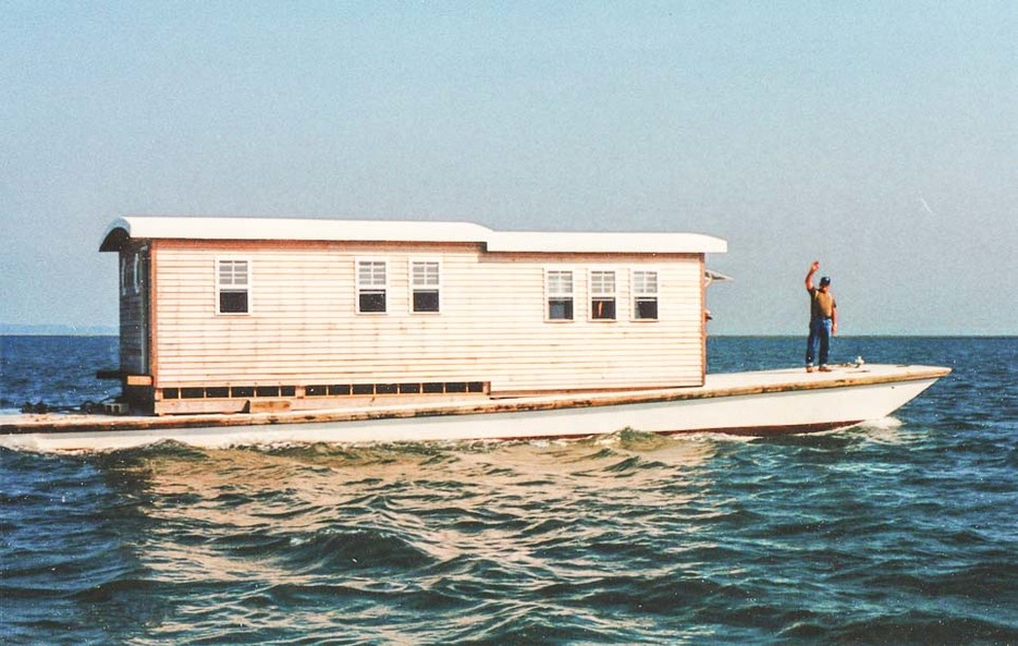 Hog island houseboat by Bill Young