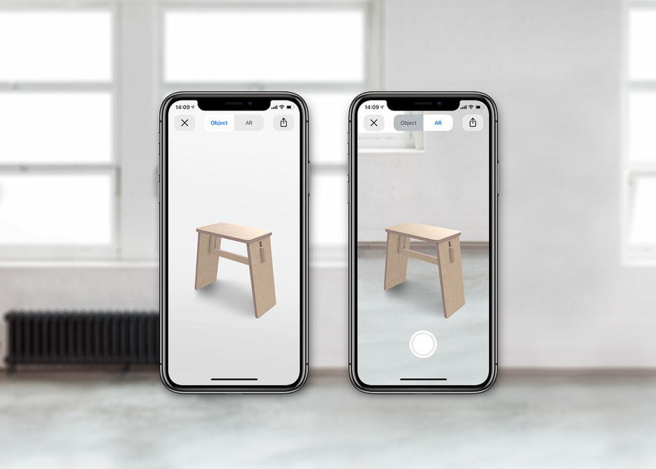 Opendesk Augmented Reality Johann Stool on iPhone X