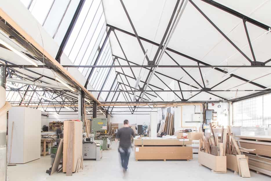 Image of Wilder's spectacular workshop space
